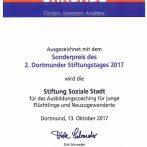 Auszeichnung auf dem 2. Dortmunder Stiftungstag